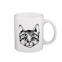 Šílená kočka - hrneček