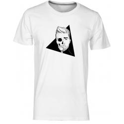 Lebka - pánské bílé tričko