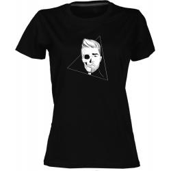 Lebka - dámské černé tričko