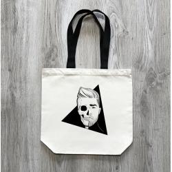 Lebka - přírodní taška s černým uchem