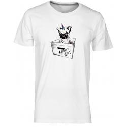 Unicorn - pánské bílé tričko