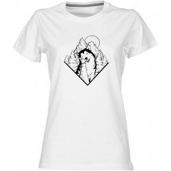 Husky 2 - dámské bílé tričko