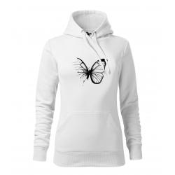 Motýl - dámské bílá mikina