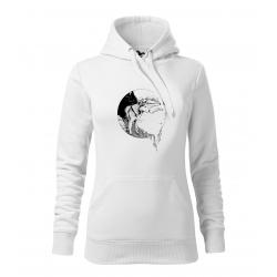Husky - dámská bílá mikina
