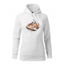 Liška 2 - dámská bílá mikina